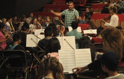Tower Hamlets Youth Orchestra rehearsing